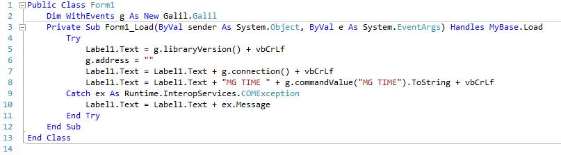 Legacy API Examples   Galil
