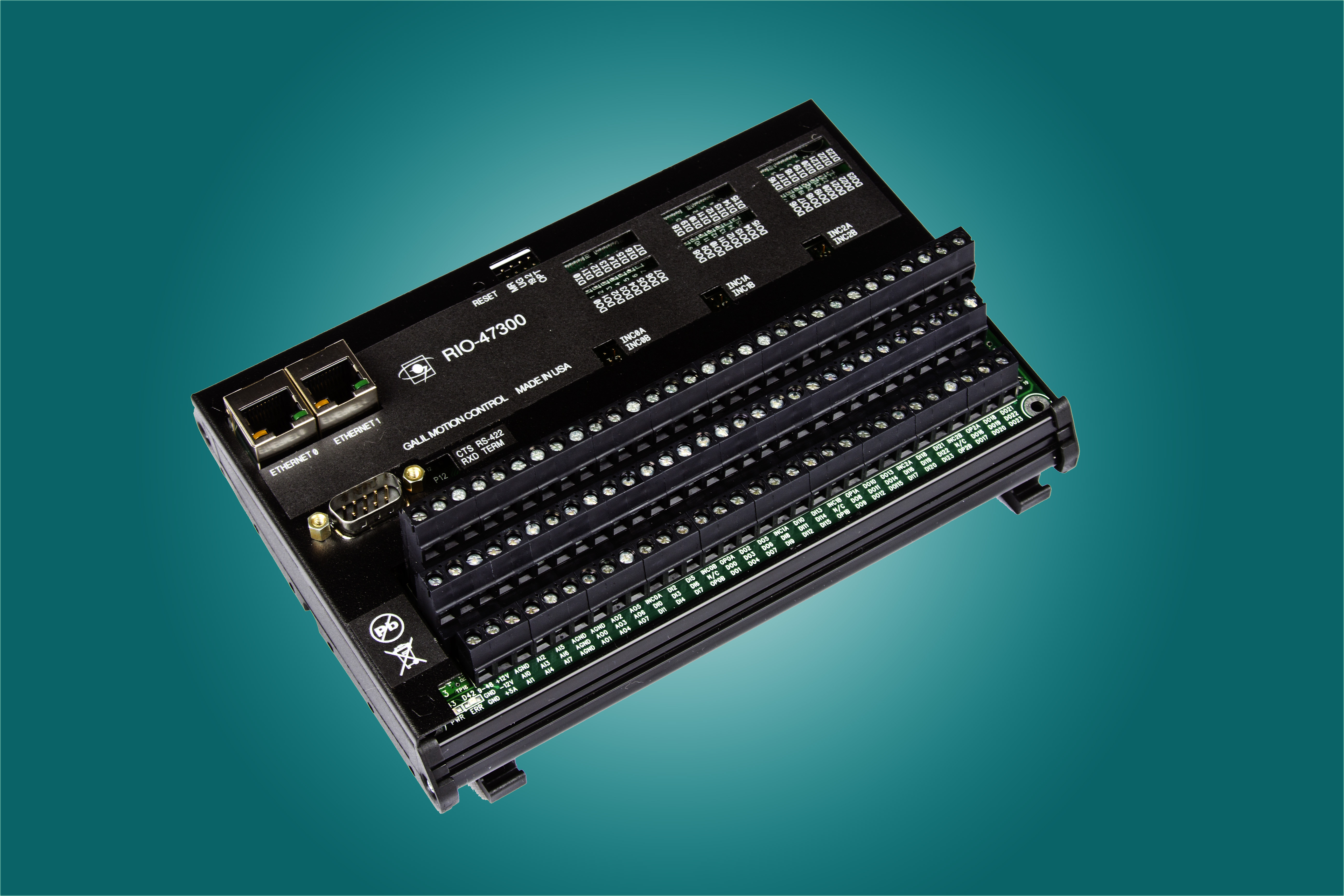 RIO-47300 Pocket PLC Has 48 Digital and 16 Analog I/O, and Two Ethernet Ports